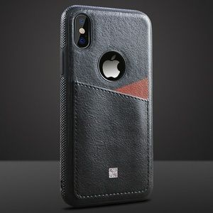 Leather Back Card Slot Cover Case for iPhone